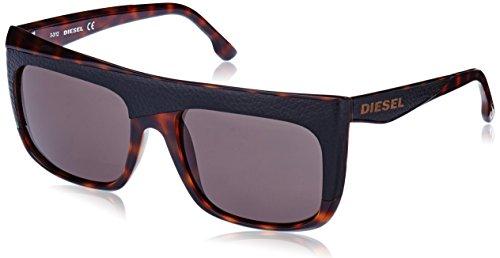 Diesel - occhiali da sole dl0061 wayfarer, shiny dark havana frame / dark grey lens