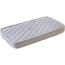 Colchón de cuna ESPUMA ACOLCHADO antibacterias antiácaros transpirable para cunas de 120x60 Altura 10 cm Medida exacta del colchon 117x57