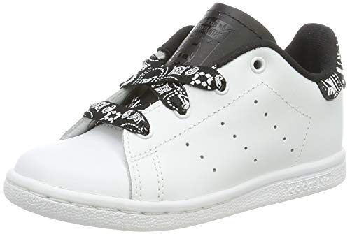 adidas Stan Smith I, Chaussures de Gymnastique Mixte bébé, Blanc FTWR White/Core Black, 27 EU