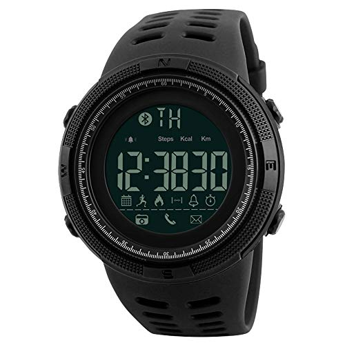 Skmei Relojes Hombre Digitales Inteligentes Impermeable Podómetro Bluetooth Reloj para Android IOS Deportivo Fitness Tracker Monitor de sueño