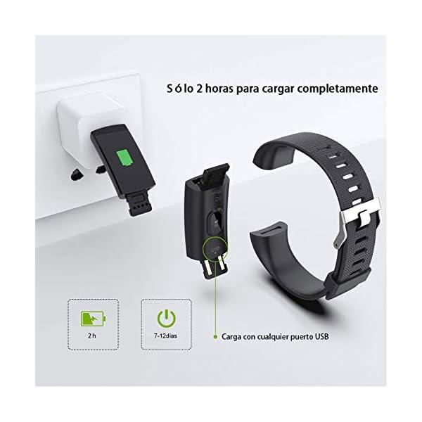 iWalker Smart Pulsera Fitness Tracker, Pulsera Actividad de Frecuencia Cardíaca, Impermeable IP68, Podómetro Deportiva… 5