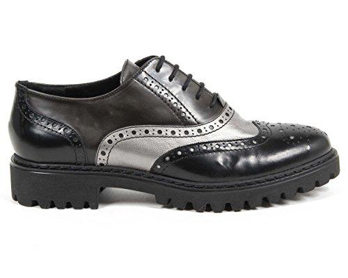 Versace 19.69 Chaussures De Ville À Lacets Femme (Oxford) Talon 3 cm 100% Cuir de Veau Multicolore