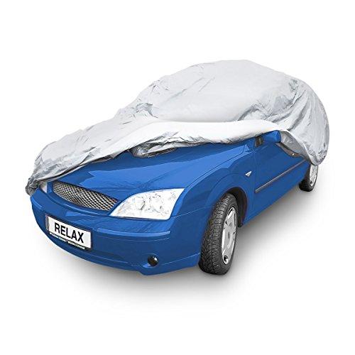 Relaxdays Autogarage Plane mit Innenfutter, Autoabdeckung faltbar, wasserdichte, robuste Faltgarage Auto, Größe S, grau