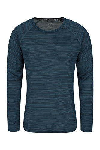 Mountain Warehouse Endurance Striped Mens T Shirt - UPF40 UV Protection Mens Top, Lightweight, Quick Dry Tee Shirt, Highly Wicking, Breathable - Great for Summer Days