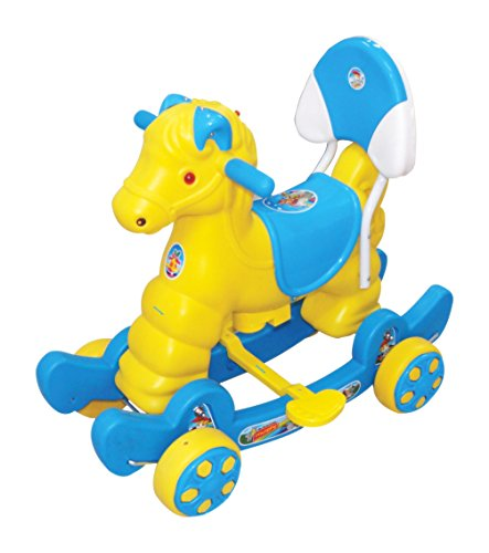Her Home - Murphy Super - Musical Baby Horse 2-in-1 - Rocker Cum Ride-on with Backrest for Kids