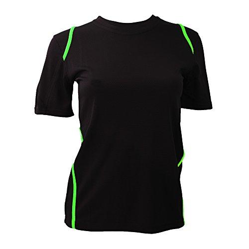 Gamegear Cooltex - T-shirt - Femme Noir/Vert citron fluorescent