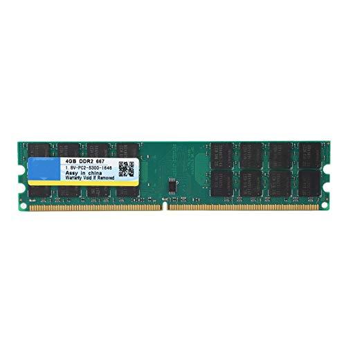 Diyeeni 4G 667 MHz DDR2 PC2-5300 240-Pin 1,8 V Speicher RAM, Desktop Arbeitsspeicher mit Stabiler Leistung Hochgeschwindigkeitsbetrieb - Pc4200 Sodimm Speicher