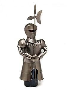 Porte-bouteille pour bouteille de vin - motif chevalier - style gothique
