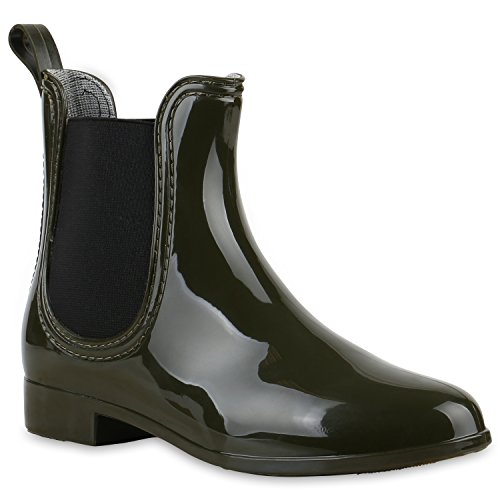 Stiefelparadies - Stivali di gomma Donna Verde scuro