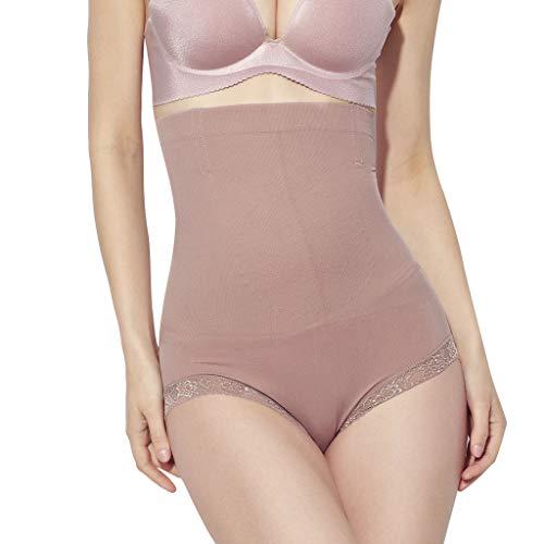 IZHH Damen Seamless Korsett Body-Shaping Pant Schnürsenkel Bottom Pant Atmungsaktive Unterwäsche mit hoher Taille Dünne Taille Postpartale Shapewear-Höschen Rosa