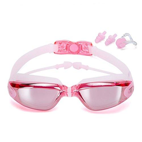 2ae0e511ca5d8d Lunettes de natation sans fuite anti brouillard protection UV Lunettes de  natation de triathlon avec boîtier