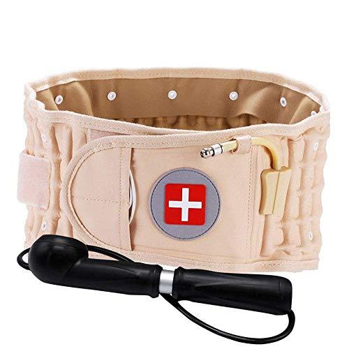 Airser Taille Trainer Gürtel, Beheizter Massagegürtel, Verstellbarer Lendenwirbel-massagegürtel, Lendenwirbelstütze Und Verlängerungsgürtel - Traktion Duo