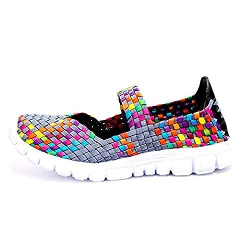Auspicious beginning Woven Flexible Comfort Light Weight Sport Water Shoes For Women