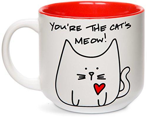 Pavilion Gift Company Blobby Katze, Sie sind der Cat 's Meow. Becher, 510g (18oz), rot -