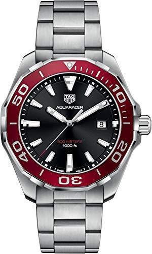 Tag Heuer Aquaracer nero & rosso 43mm orologio da uomo WAY101B.BA0746