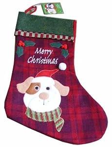 Patch Dog Luxury Christmas Stocking