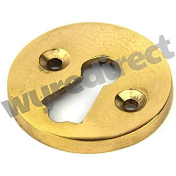 19mm x 24mm oval escutcheon in polished brass Keyhole cover