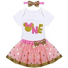Vestidos de minnie rosa y dorado