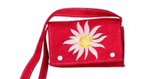 Bavaria, Borsa a tracolla donna Multicolore rosso rosso