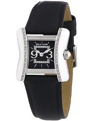 Pierre Cardin Damen-Armbanduhr Ailes Analog Quarz Leder
