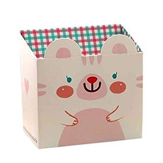 Amybria Schreibwaren Aufbewahrungsbox Karikatur Tier Papierkasten Schreibtisch Veranstalter Behälter Box für Stift Federmäppchen Schreibtisch Organizer Weiß