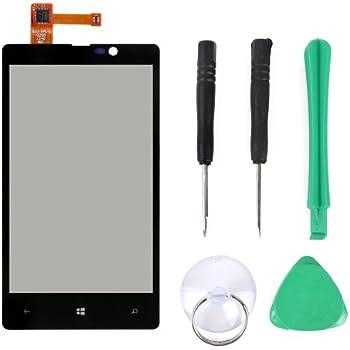 VITRE ECRAN TACTILE cadre Couleur Noir pour Nokia Lumia 820 Windows phone WP8 outils accessoires tournevis