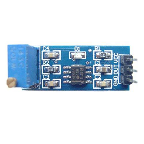 Preisvergleich Produktbild UHAoo NE555 Impulssignalgenerator Frequenz einstellbar Modul Quadratisch Rechteckig Waveboard 5V-12V