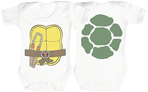 Ninja Turtle Baby Strampler - Baby Body - Baby Body Geschenkset - 3-6 Monate ()