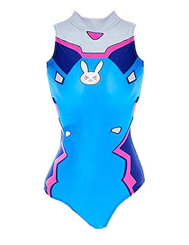 YUANMO Women's DVa Cosplay Costume Schoolgirl Swimsuit One Piece Slim Swimwear Bodysuit - Sammlung Bodysuit