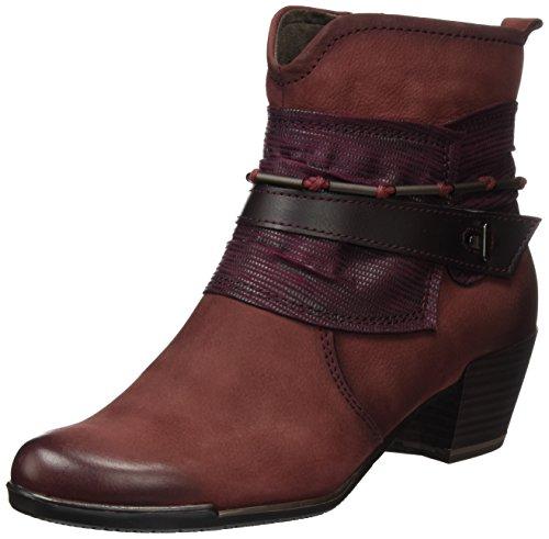 Tamaris Damen 25349 Biker Boots Rot (BORDEAUX COMB 550)