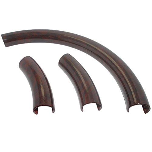 Preisvergleich Produktbild Universal Dunkelbraun Holz Lenkradabdeckung Set für W124 W140 W163 W164 W202 W203 W209 W210 W211 W220 C208 C215 C219 R230 W251 R170