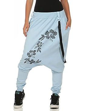malito Pantaloni Boyfriend giarrettiere Twist Aladin Sbuffo Baggy 91085 Donna Taglia Unica