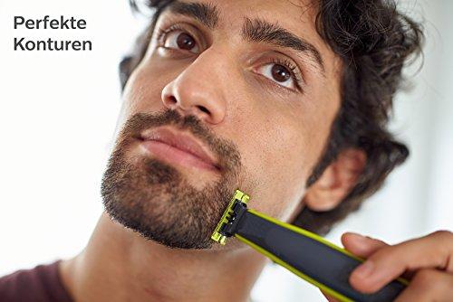 Philips OneBlade, Trimmen, Stylen, Rasieren / 4 Trimmeraufsätze, 1 Ersatzklinge Abbildung 3