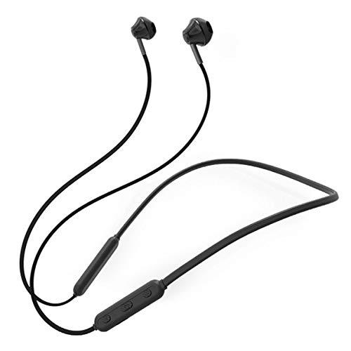 Neck-stereo-bluetooth - (Mvlike Magnetische Stereo-Stereo-Bluetooth-Kopfhörer , Neck-Mounted Bluetooth-Headset, chinesische und englische Tonaufforderungen, unbegrenztes Hören auf mehr als 12 Stunden (Farbe : Schwarz))