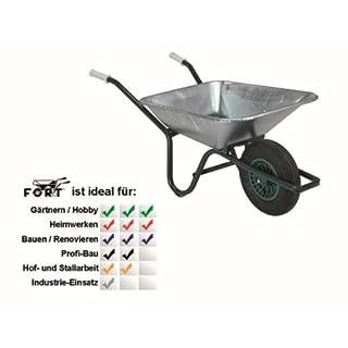 Altr.-Fort 37503 6/17 Schiebkasten Fort verzinkt 85 Liter Verschleißkufen Mulde, Kippbügel