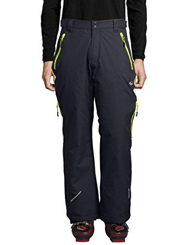 Ultrasport Herren Amud Ski- und Snowboard-Funktionshose, dunkelgrau/neon gelb, L