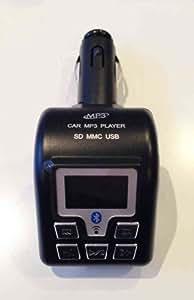 Transmetteur FM avec lecteur MP3 et kit mains libres Bluetooth