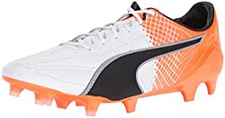 PUMA Men s Evospeed SL II Lth Tricks FG Soccer Shoe Puma White-puma Black 9 D(M) US