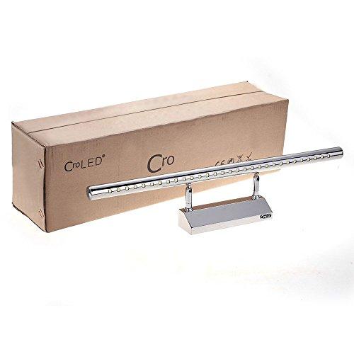 CroLED® 7W 30LED SMD5050 Edelstahl Spiegelleuchte Badlampe Spiegellampe Wandleuchte Weiß - 2