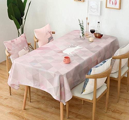 Djkaa Dicke Baumwollmotwildmustertischdecke Wasserdicht Und Ölbeständige Anti-Hot Haushaltstischdecke Tischdecke