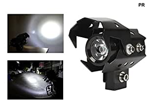 PR U8 LED Motorycle Fog Light Bike Projector Auxillary Spot Beam Light (Black, 1Pc) High Beam,Low Beam,Flashing Modes For Honda CB Shine SP Self Drum Alloy