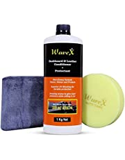 Wavex DLCP1K Dashboard And Leather Conditioner Protectant (1 Kg) with Microfiber Towel and Foam Applicator