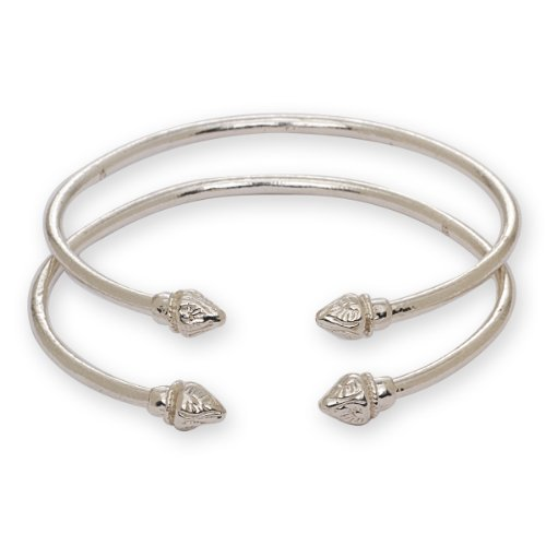 elegant-pointed-ends-925-sterling-silver-west-indian-bangles-pair-27g-made-in-usa-by-better-jewelry