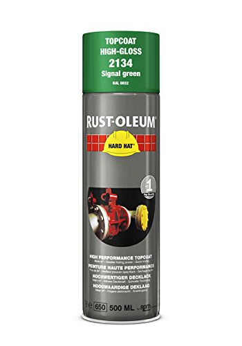 Rust-Oleum 2134Hard Hat Decklack Sonderlackierung geliefert werden, die Nr. 1Industrieller Paint Aerosol. Go weitere, Arbeit Schneller, hält länger., Signal green-ral 6032 (Green Aerosoles)