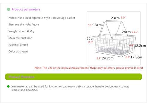 WSDSHD Freies Verschiffen Japanische Weiße Eisen-Kleinigkeiten Beweglicher Speicherkorb Tischplattenspeicherkorbfrucht-Speicherkorb-Kleiner KorbWeiß -