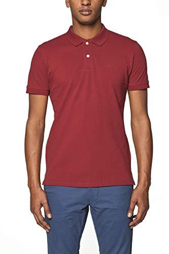 ESPRIT Herren 999EE2K803 Poloshirt, Rot (Bordeaux Red 600), Herstellergröße: XX-Large