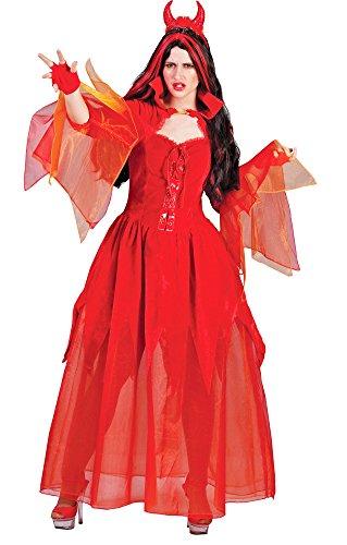 Pierro´s Kostüm Teufelin Skylla Halloween Damenkostüm Frauen Teufelkostüm Größe 36 38 40 42 44 46 48 50 für Karneval, Fasching, Motto, Fete, Feier und Party / (Für 50 Kostüme Halloween S)