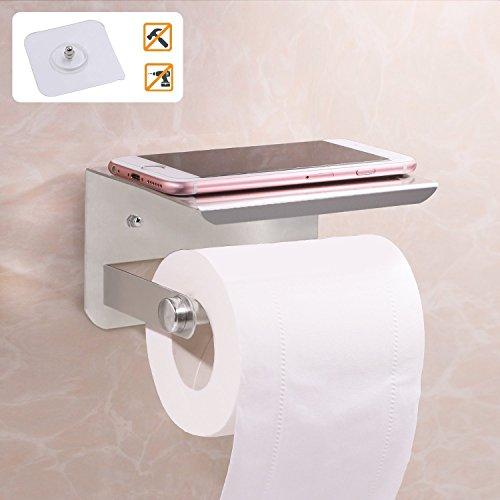 Wc-papier-halter Lufterfrischer (Switty Selbstklebendes Papier Halter, Wandhalterung WC-Gewebe Rolle Spender mit Handy Ablage)