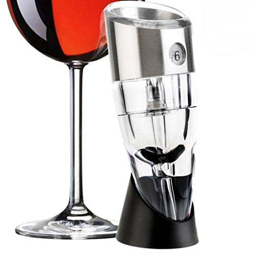 MICHAELA BLAKE Einstellbare wesentliche Wein Luftsprudler Rotwein Belüfter Dekanter mit 6 Stufe Multi Bühne Decanter für alle Arten von Weinen