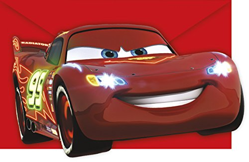Procos Neon Cars Party Einladungen Einladungskarten Kindergeburtstag